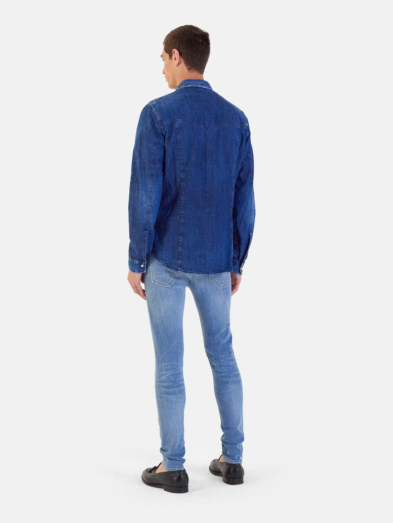 TRUCK ICON SHIRT POMICE STONE WASH NAVY BLUE
