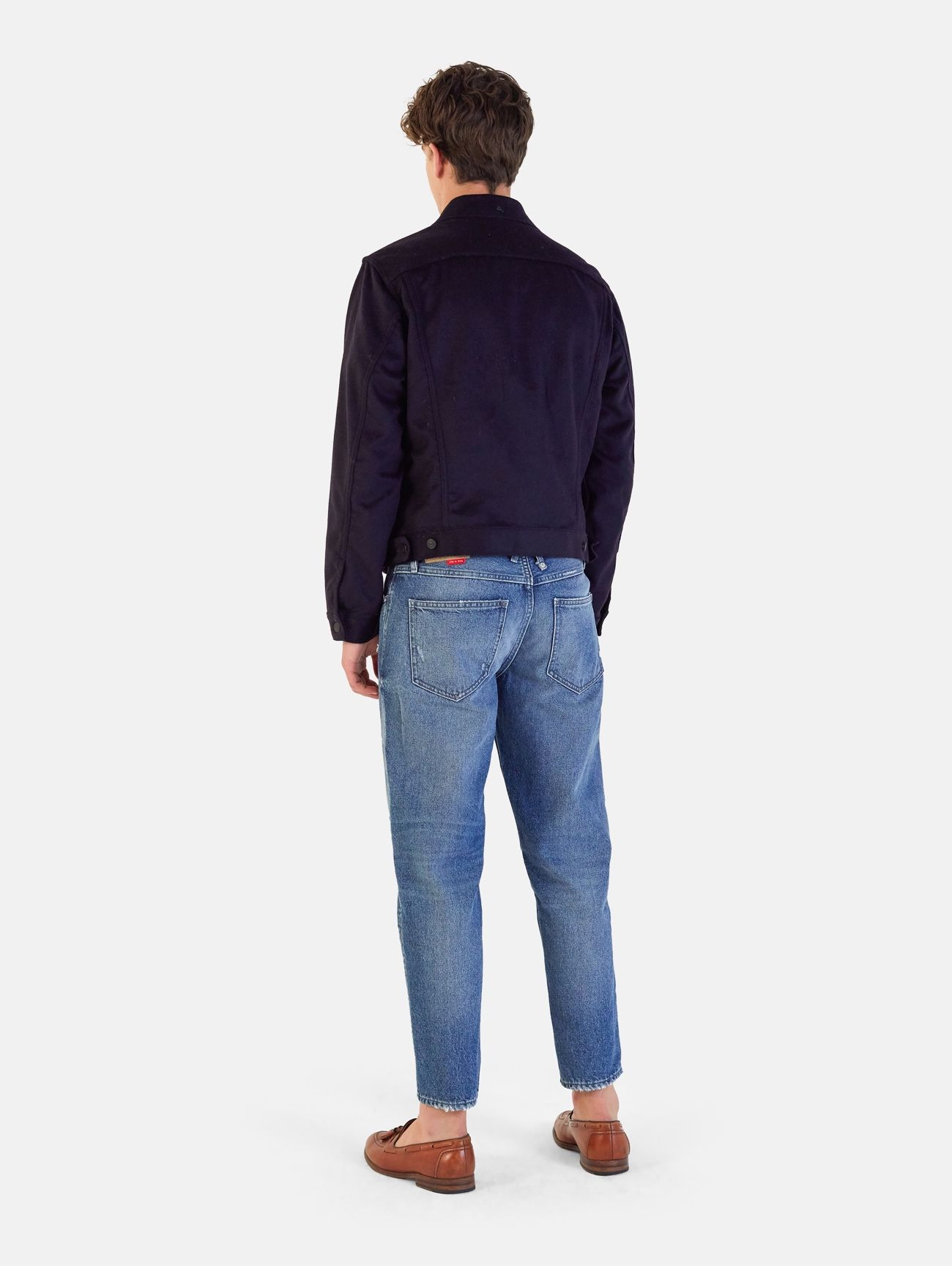EVER WOOL TRACK JACKET NAVY SCURO