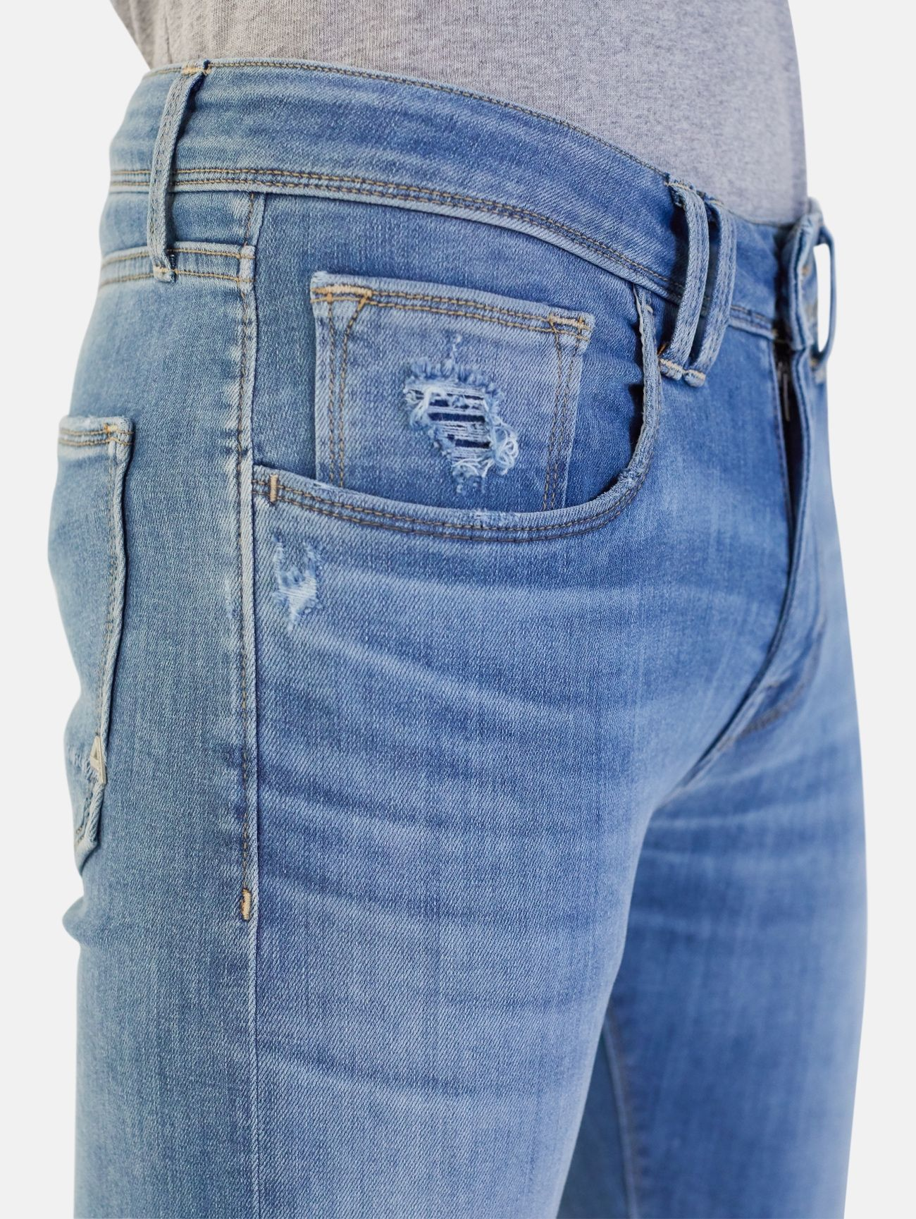 TOUCH STRETCH SKINNY REAL VINTAGE AZZURRO