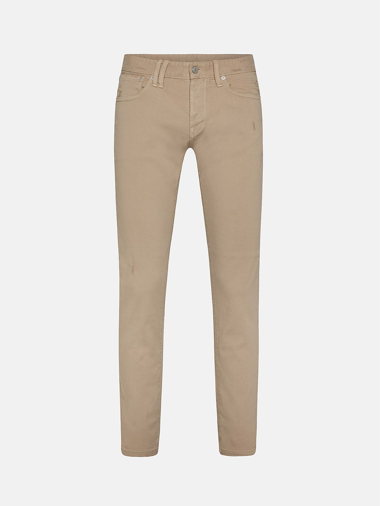 BONE COMFORT SKINNY DISTRESSED AND DYED BEIGE