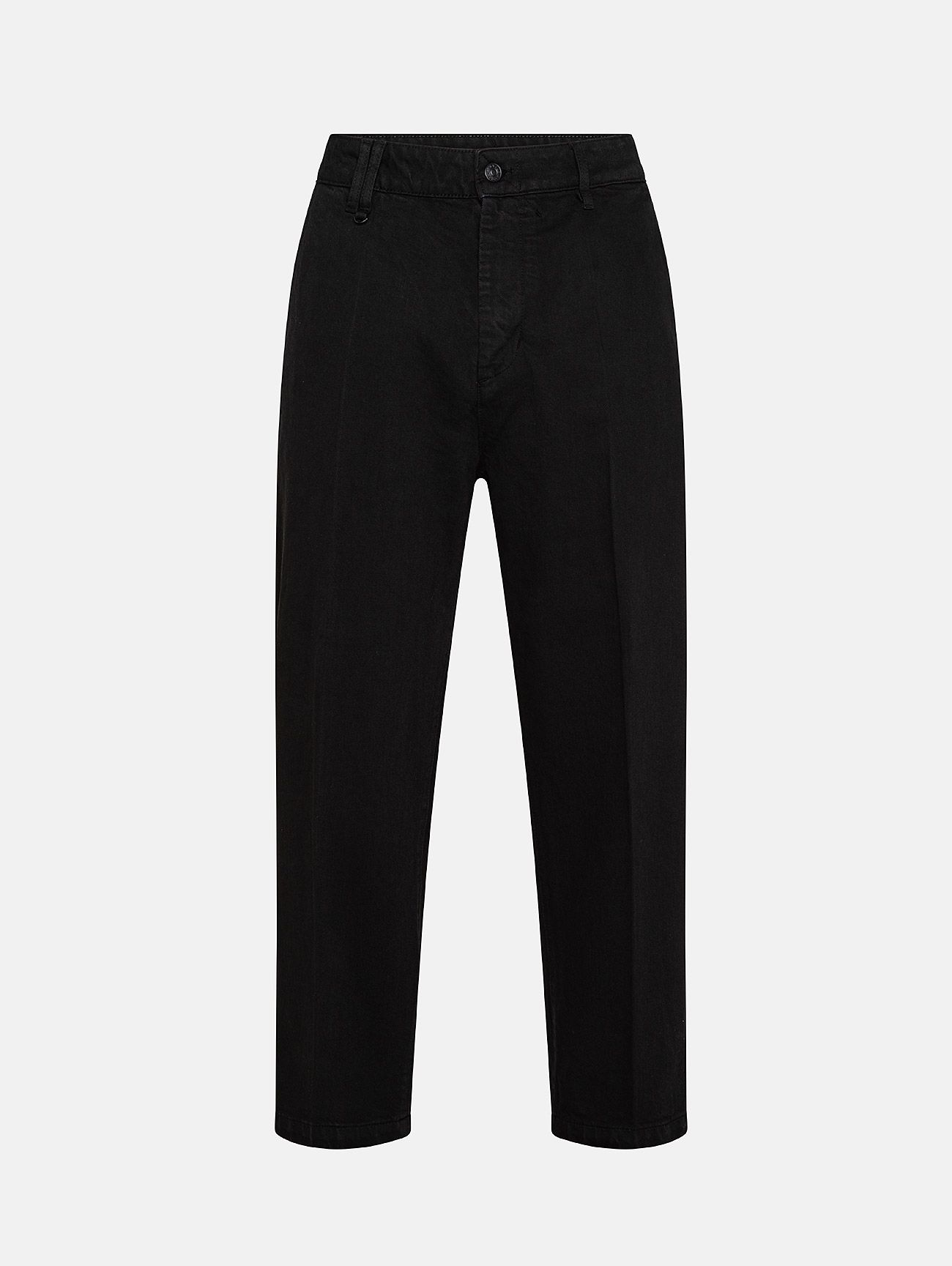 YOUNG CHINO RIGID OVER ANKLE GARMENT DYED NERO