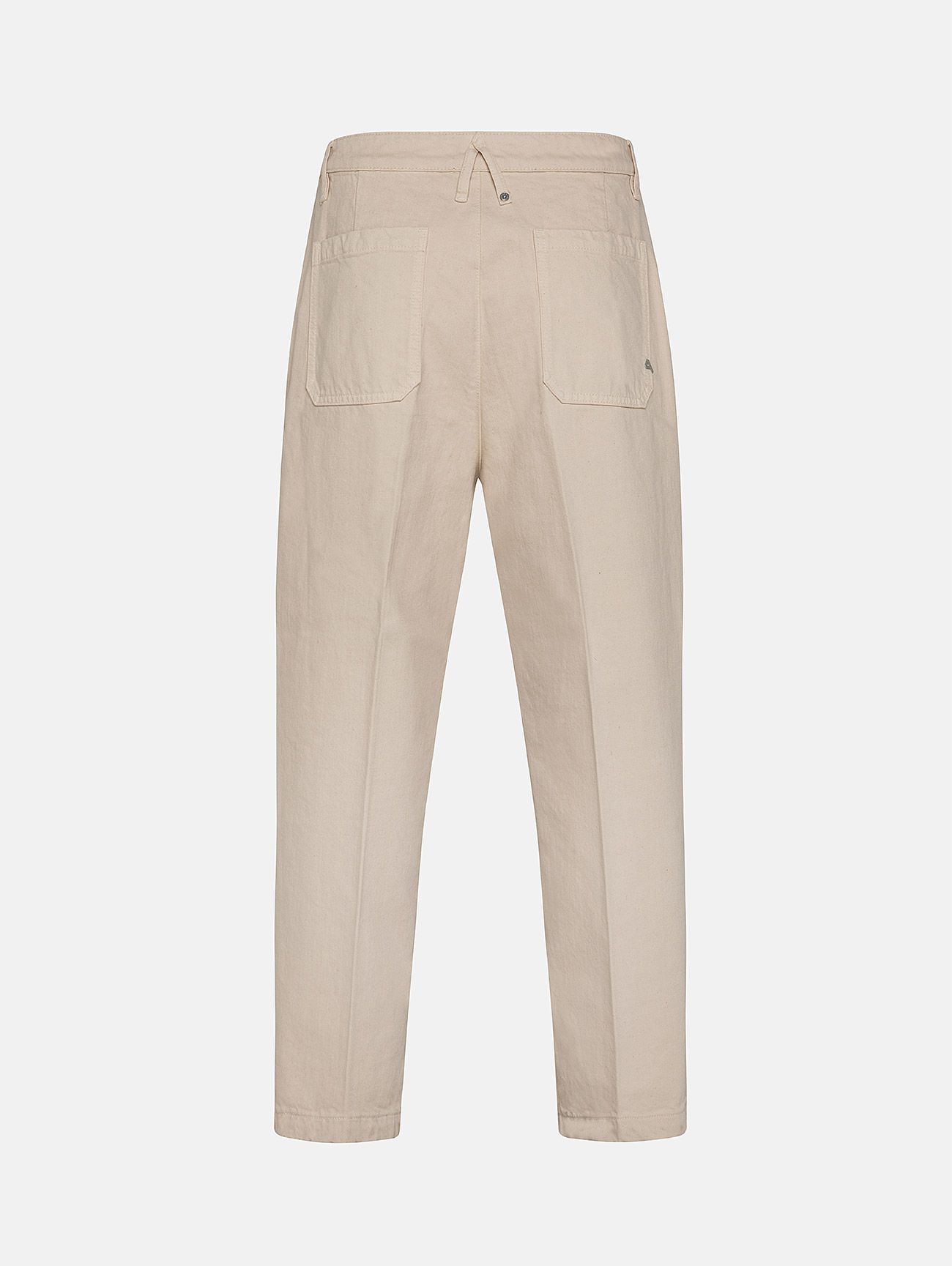 YOUNG CHINO RIGID OVER ANKLE GARMENT DYED PORCELLANA