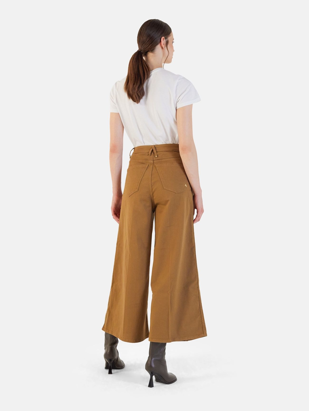 OPEN HIGH RISE PALAZZO GARMENT DYED FOX