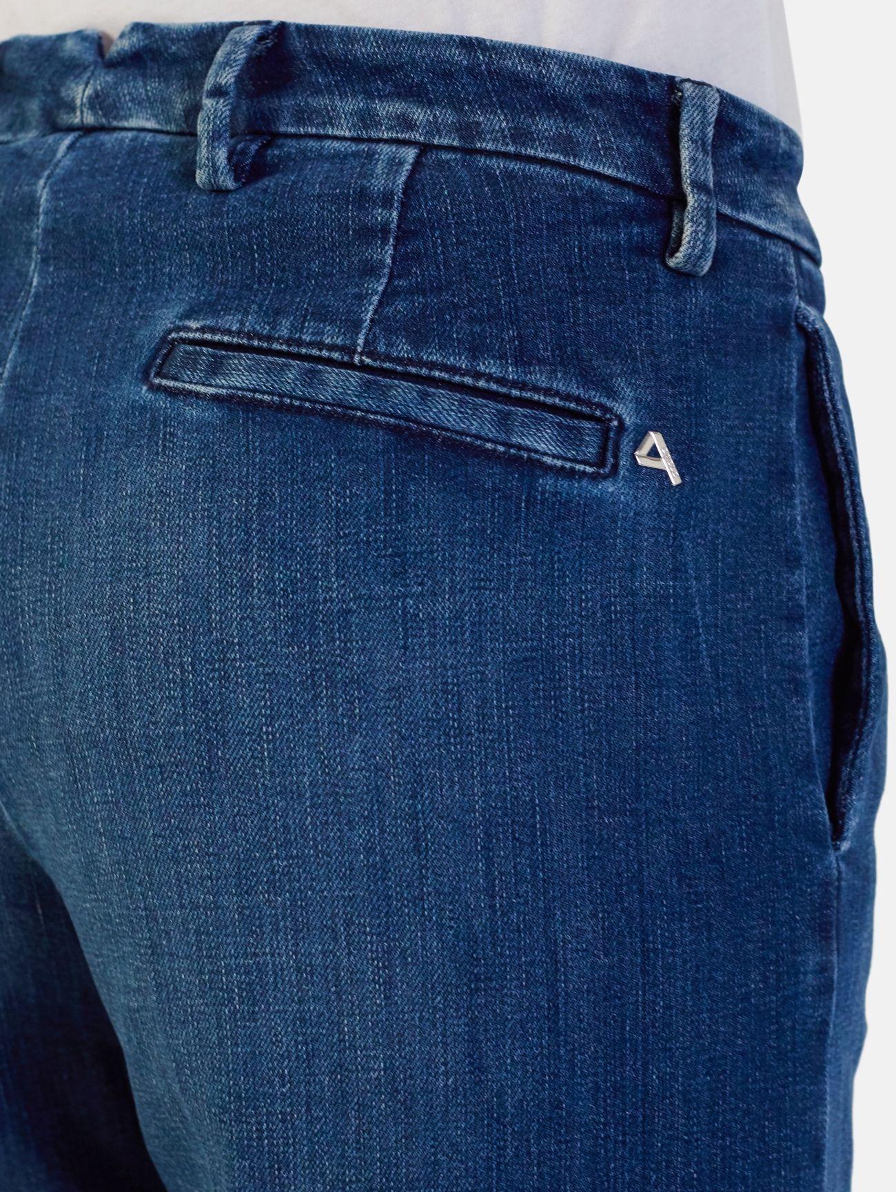 CHARLA CHINO REGULAR WAIST PENCE WIDE LEG LASER&OZONE FINISH BLUE
