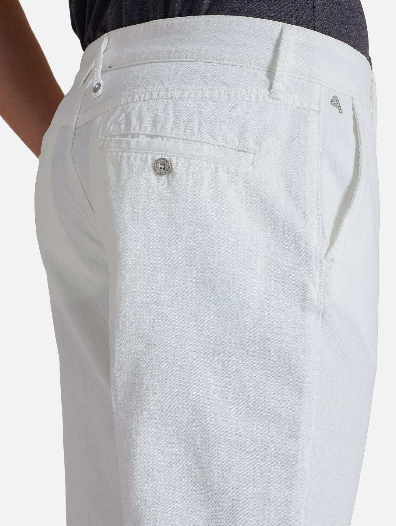 CHINO CROPPED GARMENT DYED BIANCO