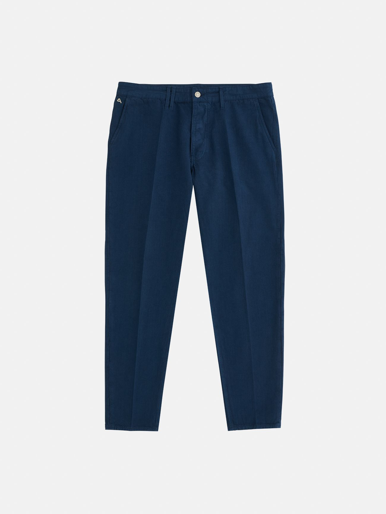 CHINO CROPPED GARMENT DYED NAVY BLUE
