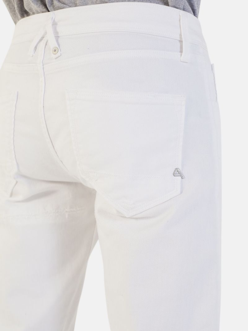 TOUCH STRETCH SKINNY RIPPED BIANCO