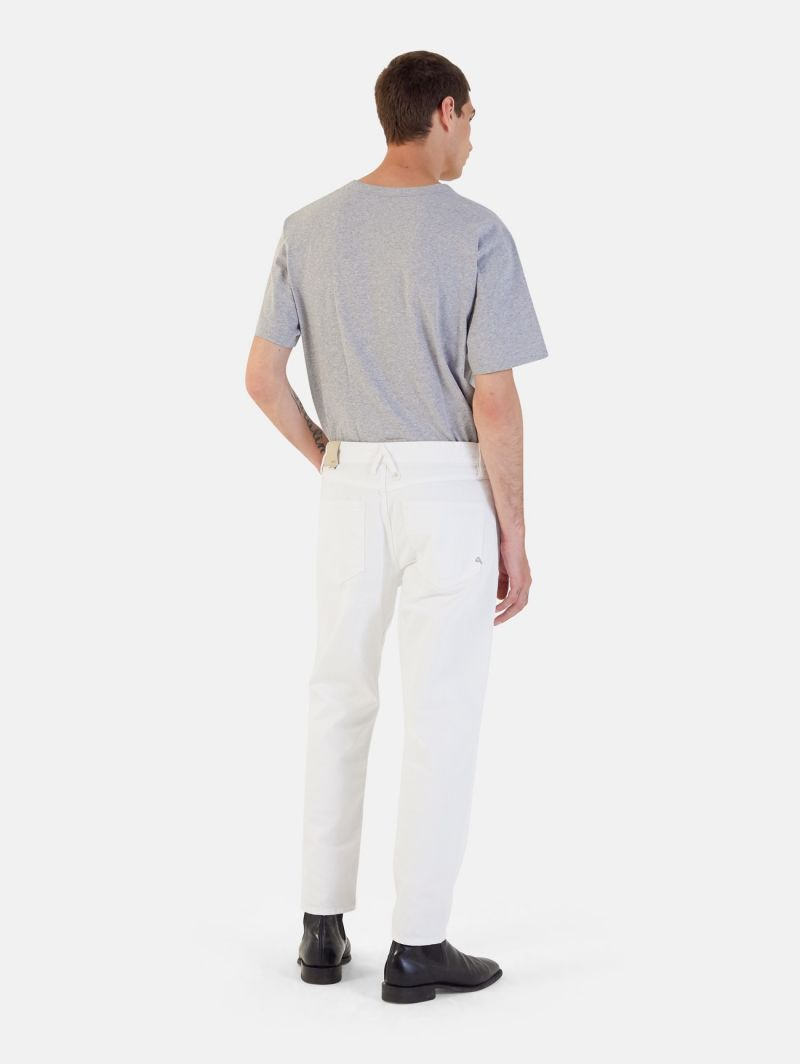 PONY CROPPED RIPPED BIANCO