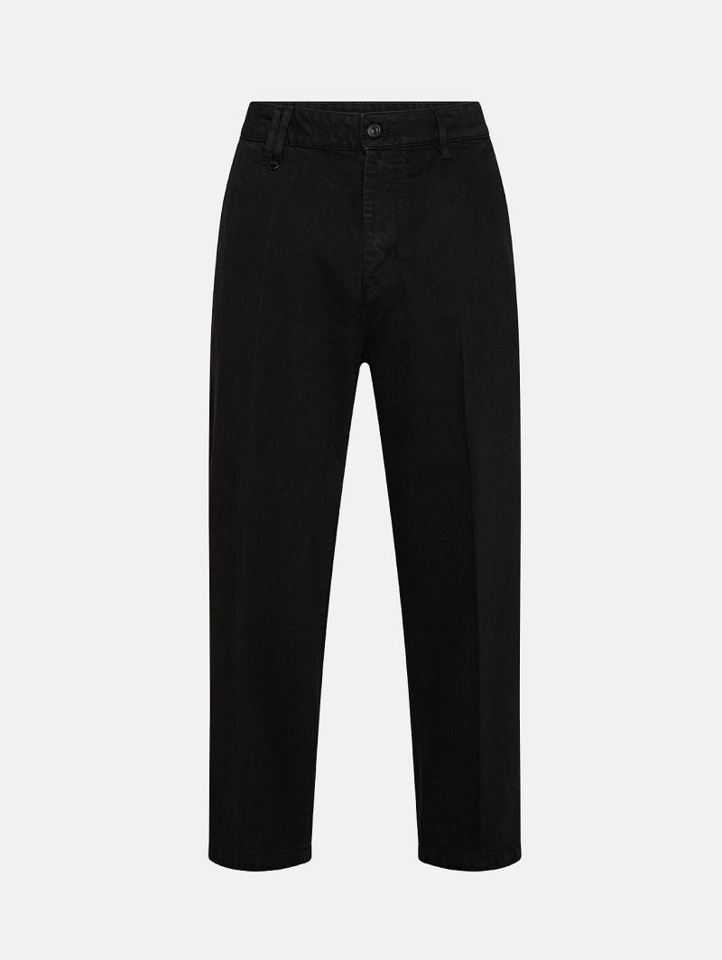 YOUNG CHINO RIGID OVER ANKLE GARMENT DYED BLACK