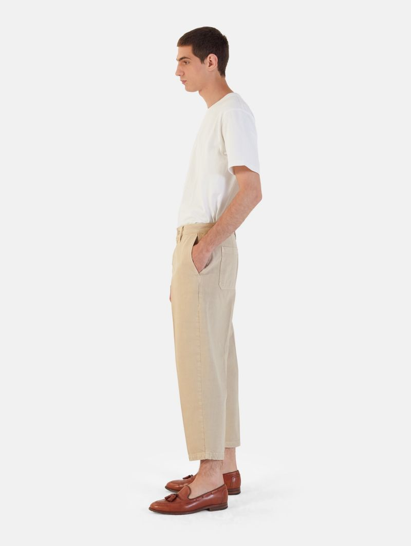YOUNG CHINO RIGID OVER ANKLE GARMENT DYED BEIGE