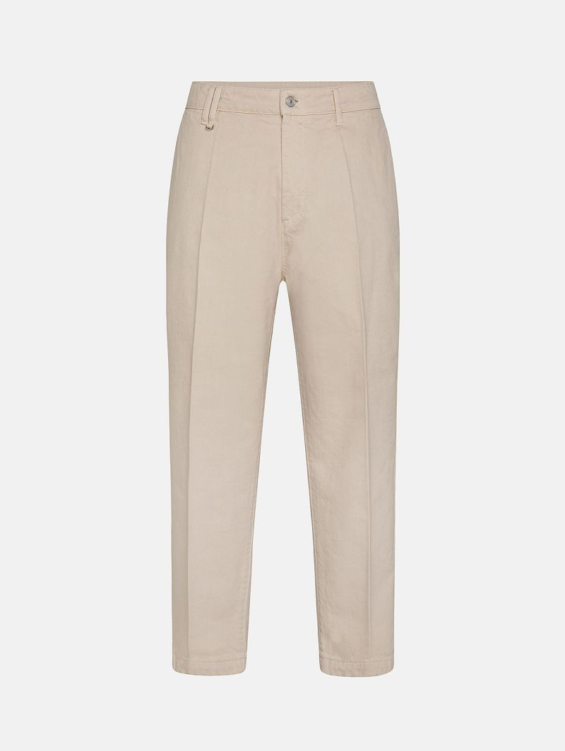 YOUNG CHINO RIGID OVER ANKLE GARMENT DYED PORCELAIN