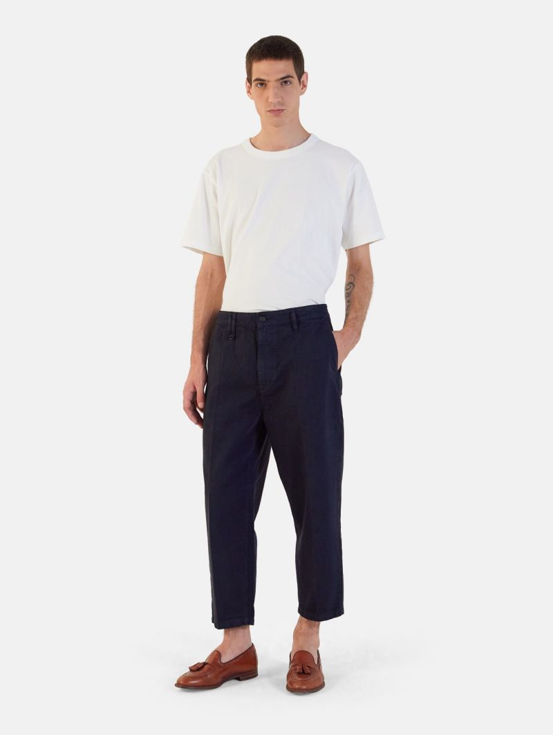 YOUNG CHINO RIGID OVER ANKLE GARMENT DYED DARK NAVY