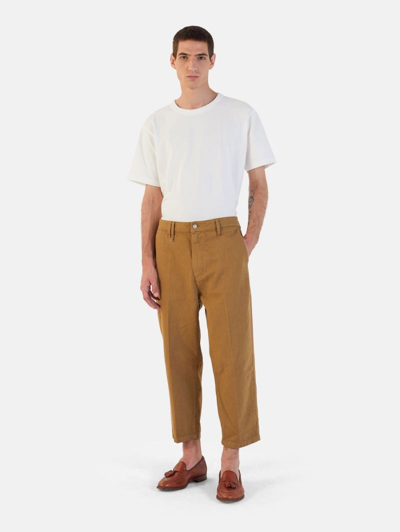 YOUNG CHINO RIGID OVER ANKLE GARMENT DYED FOX