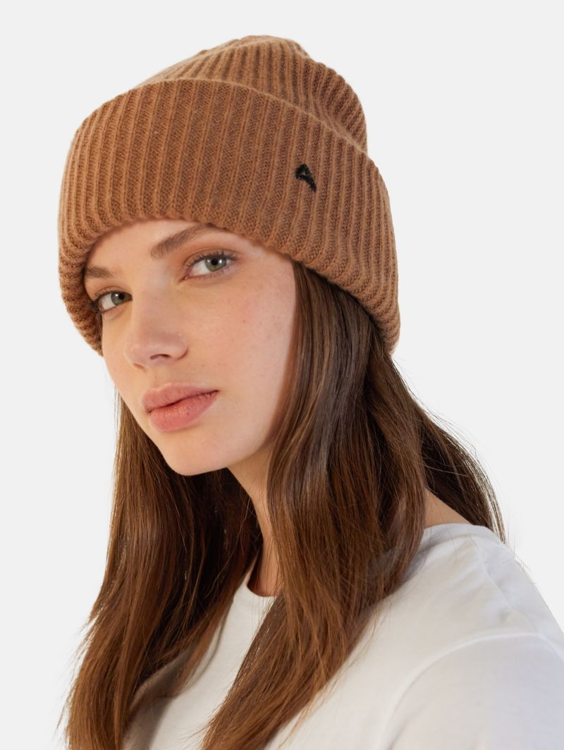 CYCLE CAP 100% CASHMERE RUST