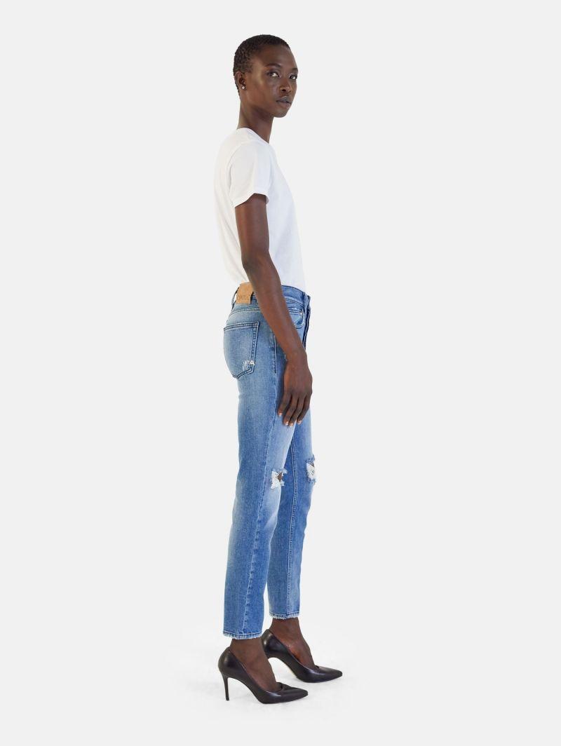 BODY SLIM HIGH RISE BOTTOM UP BROKEN NATURAL VINTAGE BLUE
