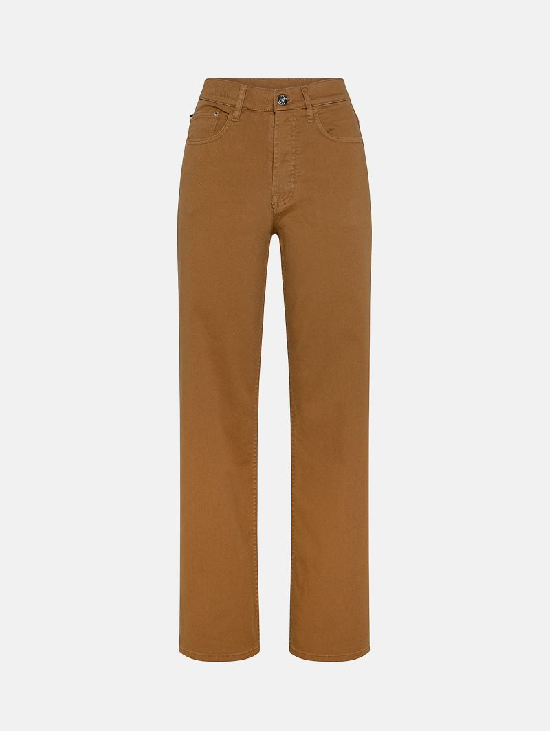 RIGHT STRAIGHT LEG GARMENT DYED VOLPE