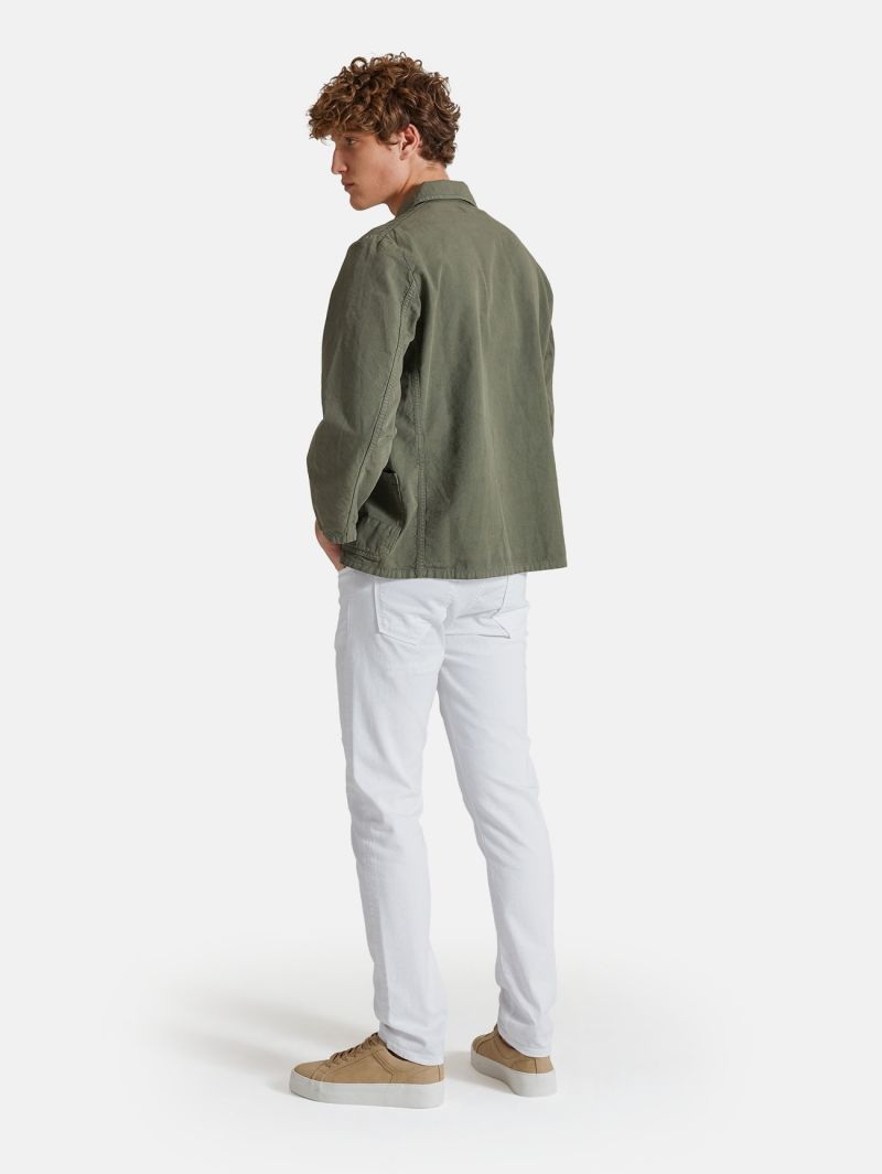 FRENCH WORK JACKET GARMENT DYED VERDE SALVIA