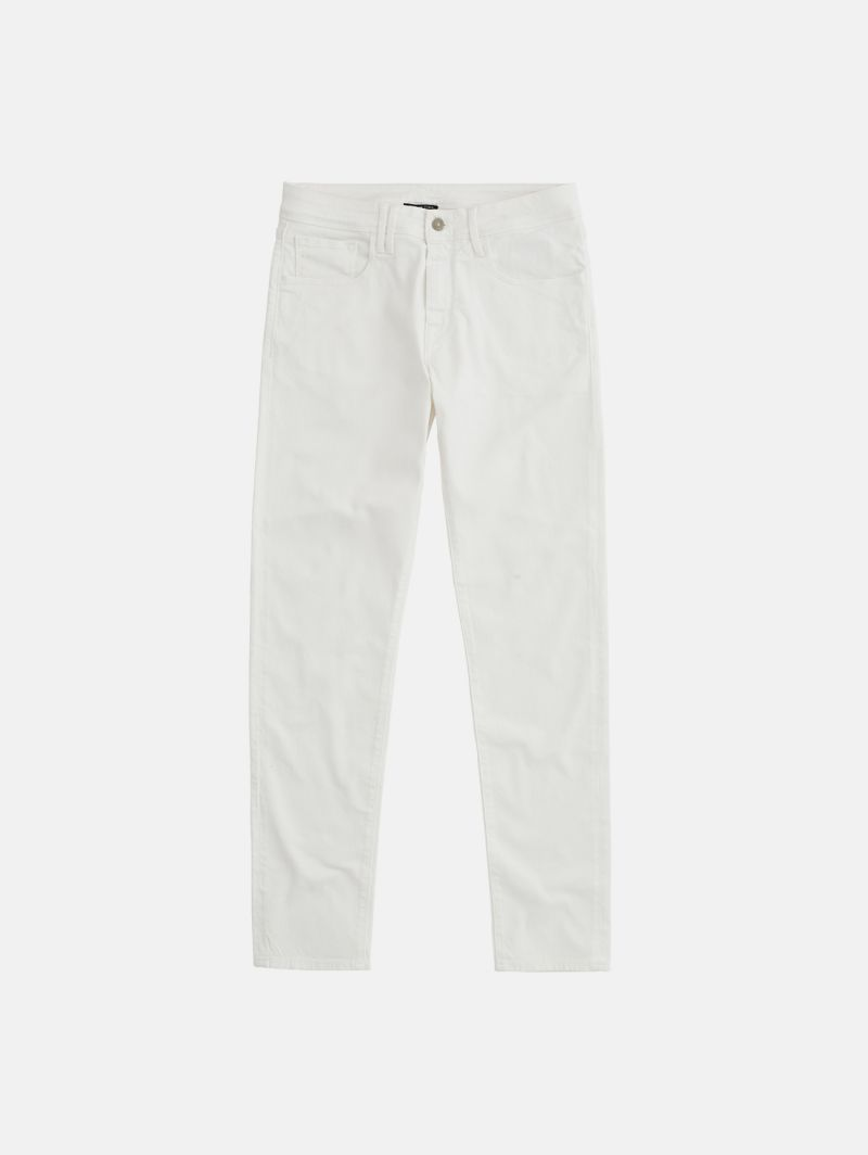 TOUCH STRETCH SKINNY GARMENT DYED BIANCO