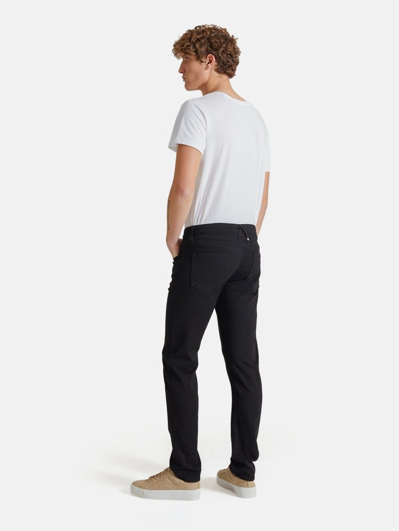 TOUCH STRETCH SKINNY GARMENT DYED NERO