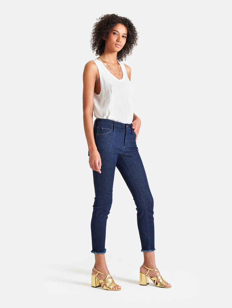 BRIGITTE TAILOR ANKLE SKINNY RINSE WASH NAVY BLUE