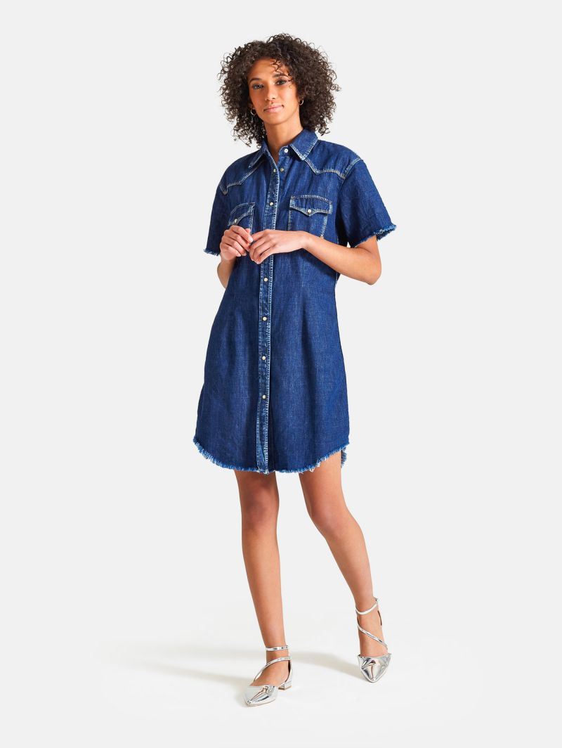 WEST DRESS DEEP BLUE VINTAGE BLUE PROFONDO